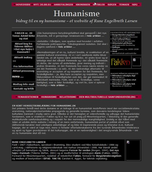 Humanisme.dk 2001